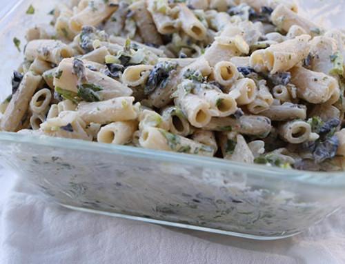 Gluten Free Cilantro & Olive Pasta Salad
