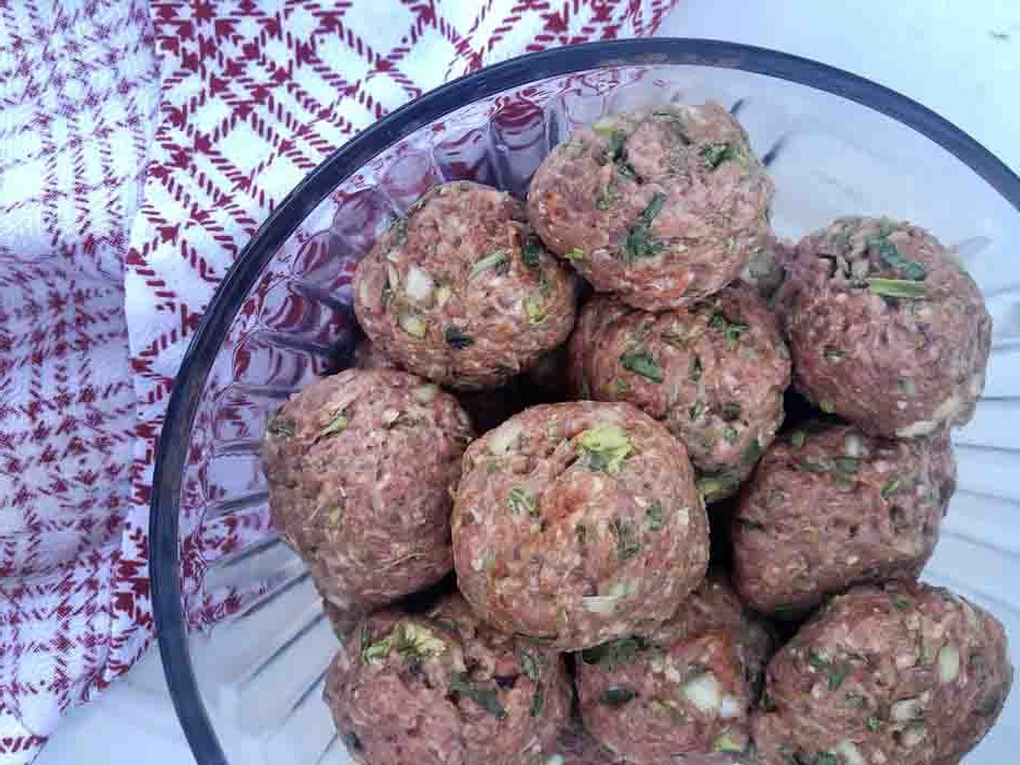 grass fed beef meatballs